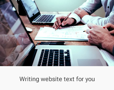 Producing copy written text for websites that reaches the right audience.